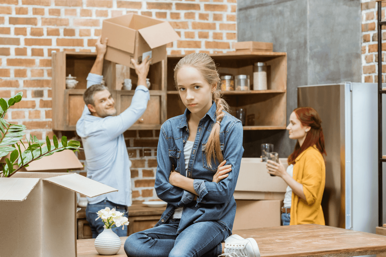 Managing emotions of moving home